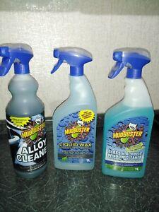 Mudbuster Cleaner Liquid wax Glass Acrylic Window Alloy Caravan Car No Streaks