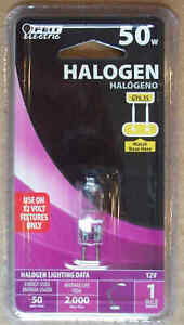 Feit Electric Halogen Indoor 50W 12V Low Voltage Lamp - T4 GY6.35 - Save on 2+