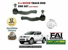 FOR MITSUBISHI L200 BARBARIAN 2.5 2006> 2x OUTER TRACK TIE ROD END LEFT + RIGHT