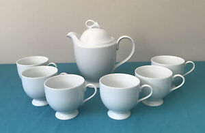 Mikasa Classic Flair Tea Pot And 6 Cups K1991 Vintage Japan