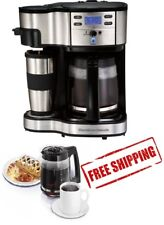 Hamilton Beach 2 Way Brewing Coffee Maker Black Cup Coffeemaker Programmable