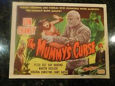 "THE MUMMY'S CURSE Original R-1951 Title Lobby Card, 11"" x 14"", C8 Very Fine"