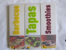 """3 X """"HAMLYN"""" RECIPE CARDS, SMOOTHIES, TAPAS, BARBECUE - FREE POST TO UK ONLY"""