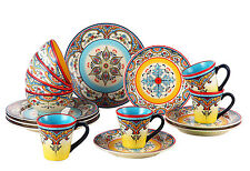 Euro Ceramica Zanzibar 16 Piece Dinnerware Set, Service for 4
