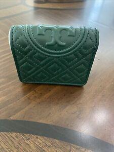 Brand New Tory Burch Fleming Bi-Fold Mini Wallet , Norwood/ 348