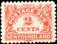 Mint Canada Newfoundland 1939 2c Scott #J2 Postage Due Stamp Hinged