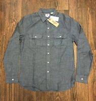 NEW $60 LEVIS INDIGO CHAMBRAY COMMUTER WORK SHIRT LEVI'S