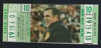 1972 NCAA MIAMI HURRICANES @ NOTRE DAME FIGHTING IRISH FOOTBALL FULL TICKET