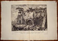 Piranesi stampa antica Appia san sebastiano Roma old print kupferstich 1784