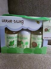 New Little Twig Organic Baby Wash Essentials Gift Set Unscented Natural