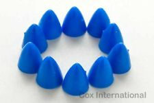 10x   Cox RTF Flyboy Model Airplane Engine Electric Motor Rubber Spinners - Blue