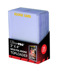 (25 ) Ultra Pro ROOKIE GOLD 3 x 4 Toploader 1 Pack Brand New 3x4 Top Load