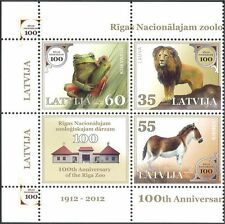 Latvia 2012 Frog/Lion/Horse/Riga Zoo/Animals/Nature/Wildlife 3v blk (n44148)