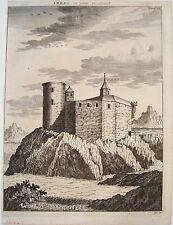 Castello IBERG yberg Wattwil Occidente Svizzera vera età chiave rame circa 1750