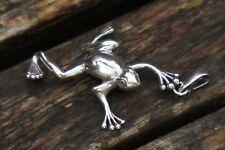 Silver Frog Pendant, Frog Pendant, Frog Gift, Silver Pendant, Big Pendant, UK