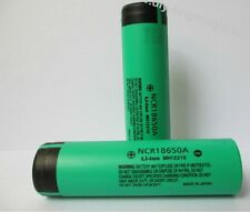 2 Pcs Panasonic NCR18650A 65mm 3.7V 3100mAh Rechargeable Li-ion Battery New