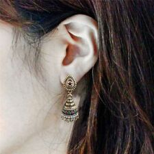Unique Ethnic Drop Earrings Jewelry Oxidised Plated Gold Jhumka Indian