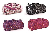 LADIES GIRLS BAG TRAVEL MATERNITY OVERNIGHT GYM HOLDALL CARRY BAG LOVE HEARTS