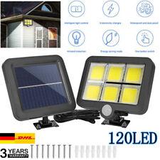 60//100 LEDs Solarleuchte mit Bewegungsmelder Sensor Außen Gartenstrahler Lampe