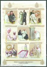 MALI  POPE  JOHN  PAUL II & FIDEL CASTRO   SHEET OF NINE  IMPERFORATED  MINT NH