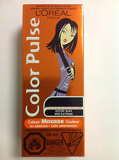 L'Oreal Hair Color Pulse Color Mousse ( ELECTRIC BLACK ) Special for Dark Hair