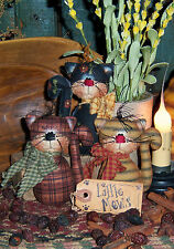 Patti's Ratties Primitive Kitty Cat Ornies Bowl Fillers Paper Pattern #342