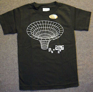 BLACK HOLE Maxwell Equations T-SHIRT.ADULT SMALL.  Science