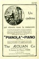 Publicité ancienne piano pianola 1924 issue de magazine