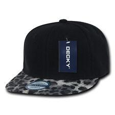 LEOPARD PRINT SNAPBACK HAT Cap Black Grey vtg retro animal skin brim swag sexy