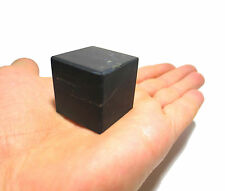 Shungite schungit Unpolished cube 30x30 elite crystal cups minerals #