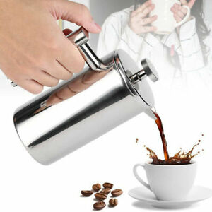 Double Wall Stainless Steel French Press Coffee Maker Tea Pot Plunger Filter AU