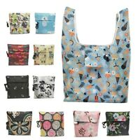 Shopping Bag Reusable Tote Grocery Handbag Foldable Printed Eco Storage Pouch