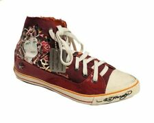 Ed Hardy Women's 18FNP102W Red / off White Fashion Sneaker US 5 NOB NWD