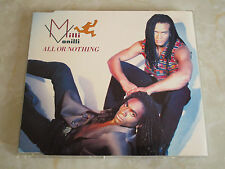 MILLI VANILLI - All Or Nothing - RARE 1990 CD Single
