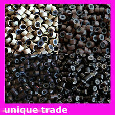 20 x SILICONE MICRO BEADS FOR HAIR EXTENSIONS IN ANY COLOUR