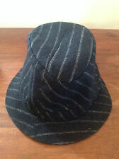 BRENTON BLACK STRIPE TRILBY HAT    58cm   NEW