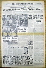 <2 1973 newspapers AMERICAN LEAGUE Approves Designated Hitter NATIONAL LEAGUE NO