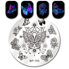 Nail Stamping Plate Butterfly Star Design Manicure Nail Art Image Plates BP-155