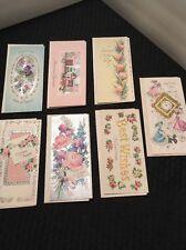 Vintage Assorted Greeting Card Lot Of 7 Unused