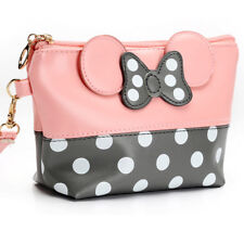 Women Travel Cosmetic Bag Cartoon Minnie Mouse Case Zipper Makeup Bag Handbag