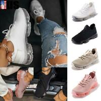 Women's Casual Air Cushion Athletic Knit Sneakers Sports Running Trainers Shoes