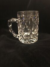 Tiffany & Co.Crystal Rock Cut Beer Mug. Retail $50. Excellent!