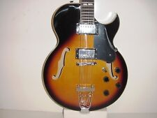 New Hollow Body 6 String Electric Guitar Sunburst Glen Burton