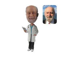 Semi Custom Physician Bobblehead Personalized Male Doctor Bobblehead