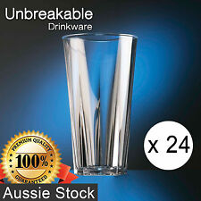 24x Polycarbonate Penthouse Pint Glass 570ml / Unbreakable Drinkware 216-1CL