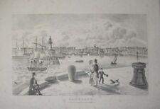 1830s RAMSGATE HARBOUR & TOWN OLD LIGHTHOUSE LITHOGRAPH BY DAY & LOUIS HAGHE