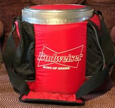 Budweiser Chest Cooler Insulated Pak Rare Size King Of Beer Red Picnic Pack