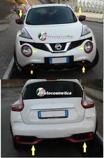 per Nissan Juke 14> cover cornici rosso x paraurti ant+posteriore+specchi+fari