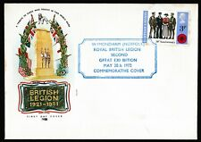 "GB Commemorative Cover ""Wymondham Norfolk Royal British Legion 1972 Exhibition"""