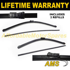 """REFILLABLE FRONT AERO WINDSCREEN WIPER BLADES PAIR 24"""" + 14"""" FOR FORD KA 2010 ON"""
